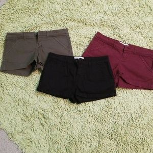 Black, green and red shorts